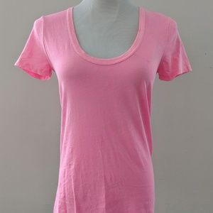 Neon Pink Scoop Neck J. Crew T-shirt